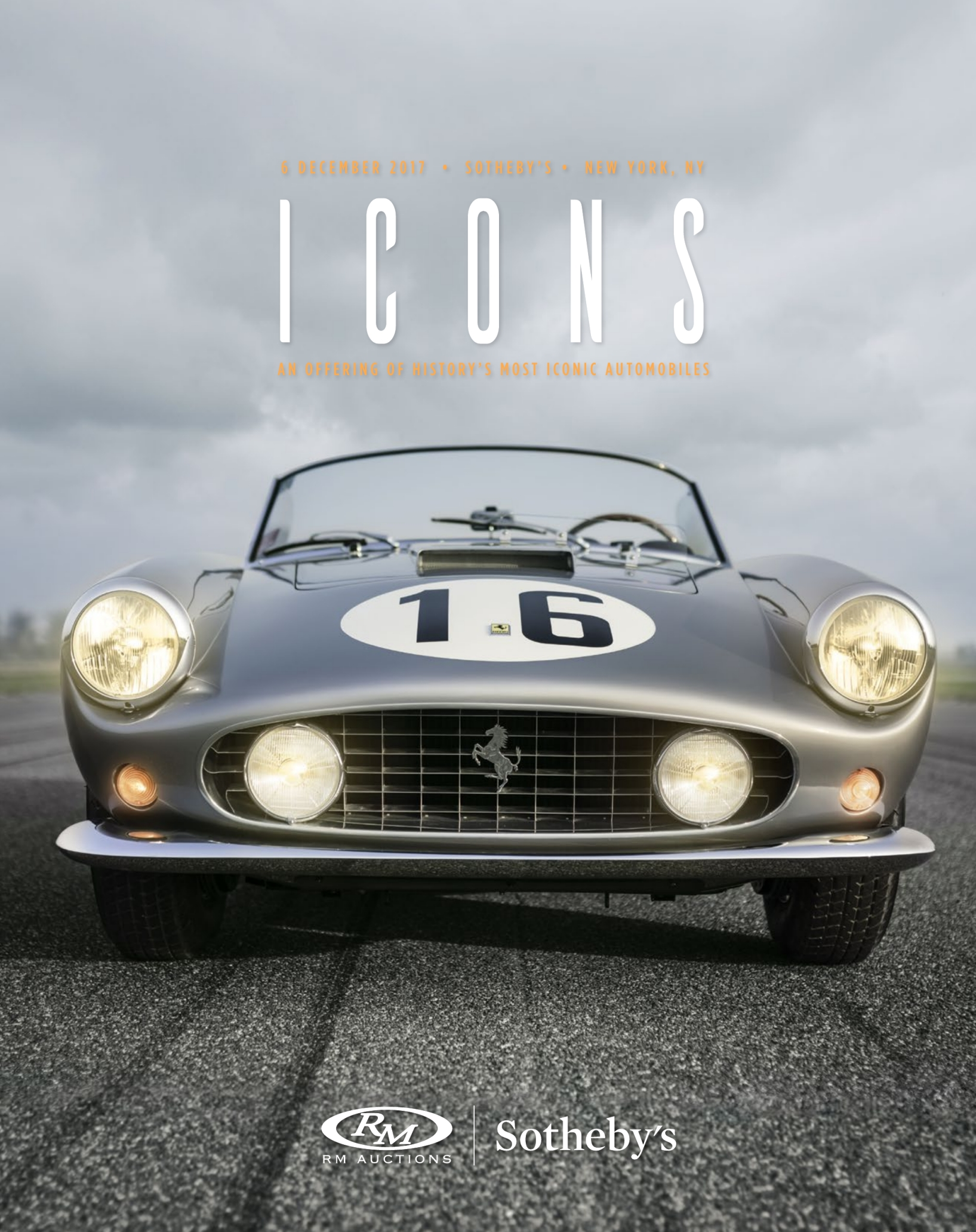 Car Auctions Ny >> Rm Sotheby S New York Icons 2017